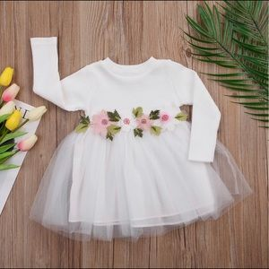 Other - NWT Girls stretch embroidered floral tulle dress